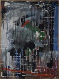 'Le jardin de La nuit' -(138x105cm) pigmento, acrílico, aluminio y óleo sobre lienzo-2015